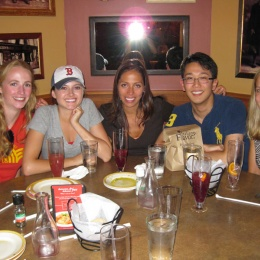 Lab Outing at Bertucci's - Lydia, Natalie, Alex, Jaewon, Ditte - July 15, 2010